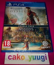 DOUBLE PACK ASSASSIN'S CREED ODYSSEY + ASSASSIN'S CREED ORIGINS SONY PS4 NEUF