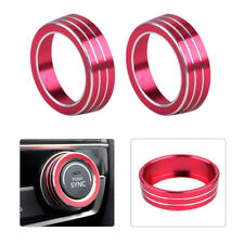 New Red AC Air Condition Control Switch Cover Ring Fit For Honda Civic 2016-2017