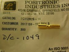 20 Positronics FC112N2S-14 Crimp Female Contacts 16 Size for 12 AWG  DFS02