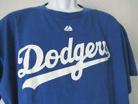 LA LOS ANGELES DODGERS Tee Shirt majestic BLUE CLAYTON KERSHAW  t xl 22 baseball