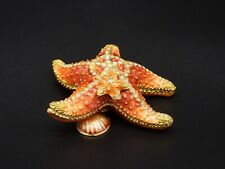 Enamel Starfish Container w/ Necklace