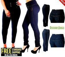 Y&F Womens Plus Size High Waisted  Stretch STRAIGHT-LEG Skinny DENIM JEANS PANTS