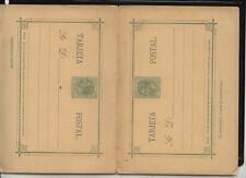 Spain  early   postal  reply  card  unused        MS0711