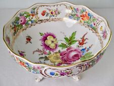 "Royal Vienna Antique Centerpiece Huge 10"" Wide Bowl Hand Painted Reticulated"