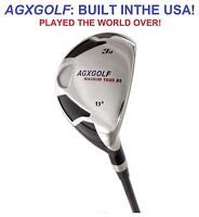 "AGXGOLF LADIES PETITE (-1"") RIGHT HAND #3 HYBRID IRON wLADY FLEX STEEL SHAFT 19*"