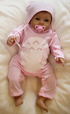 """NPK 22"""" Realistic Silicone Reborn Doll Soft Girl Baby Cotton Clothing Sets Gift"""
