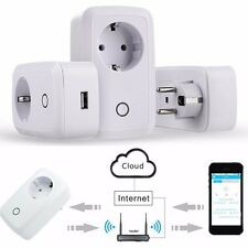 Smart WiFi Remote Control Timer Switch Power Socket Outlet EU Plug For Cellphone