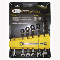 K Tool 45500 7 Piece Metric Ratcheting Wrench Set