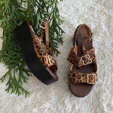 Vintage Chunky Platform Leopard Sandal Womens Size 10 Clueless 90s 1990s Y2K
