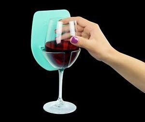 Sipski Seafoam Green Silicone Grip Cling Bath Shower Wine Glass Caddy Holder