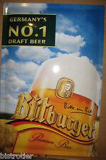 BITBURGER cadre Plaque métal publicitaire bar bistrot
