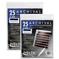 50pcs Archival 35mm Size Negatives Pages Holds 7 Strips of 6 Frames Print File