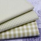 vert sauge - Vintage Kent 2 tissés teinté VICHY - Tissu coton crème sol