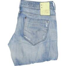 G-Star Chino Midge Women Blue Wide-Leg Loose Jeans W34 L32 (45919)