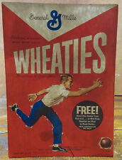 General Mills Wheaties Man Rolling Bowling Ball Cardboard Store Adv Counter Sign