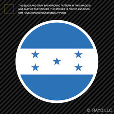 Round Honduran Flag Sticker Die Cut Decal Self Adhesive Vinyl Honduras HND HN