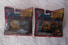 Lot cars 2 action agent Finn Mc Missile et Martin avec propulseur neuf disney