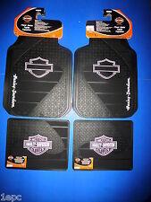 Harley Davidson Factory Front Rear Rubber Floor Mats Logo 4 pcs Set Truck PINK