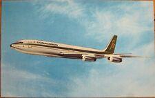 1970s Chrome Airplane Postcard: 'Donaldson International Airways Boeing 707'