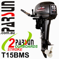 15HP PARSUN Outboard 2-stroke Short Shaft. BRAND NEW. 2yr FULL FACTORY Warranty