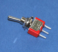 10pc Miniature Toggle Switch 1MS1T1B1M2QES On/On 3P SPDT 2A250V 5A120V PCB pin