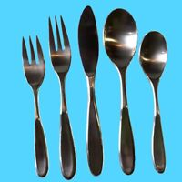 Retroneu CONTOUR Everyday Stainless Flatware - Silverware Satin Korea CHOICE