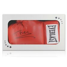 More details for tyson fury signed red boxing glove in gift box | memorabilia