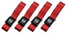 New Vintage Volkswagen Wolfsburg Red 2-Point Seat Belts Made in USA - Set of 4