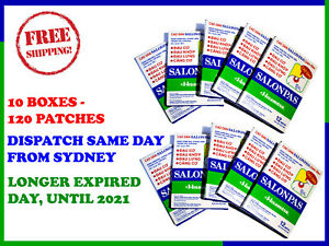 SALONPAS PATCH PAIN RELIEVING HISAMITSU - 10 BOXES 120 PATCHES - FREE SHIPPING