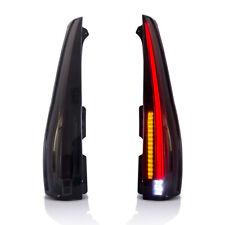 VLAND 2* Full LED Smoked Tail Lights Fit For GMC Yukon Chevrolet Tahoe Suburban