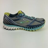 Brooks Ghost 6 Women's Size 9 Gray Blue Running Jogging Training Athletic Shoes