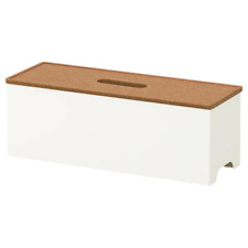NEW IKEA Cable Management Box Charger White Hide Tidy Cover Tray Organiser