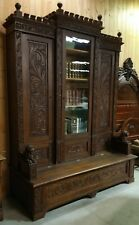 FANTASIC 100 YEAR OLD HEAVILY CARVED FULL LION BOOKCASE
