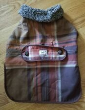 New listing Woolrich Dog Coat, Brown Plaid, Size L