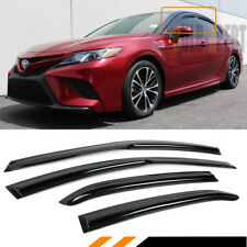 FOR 18-19 TOYOTA CAMRY LE SE XLE 3D WAVY STYLE WINDOW VISOR RAIN GUARD DEFLECTOR