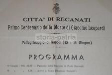 RECANATI_LEOPARDI_VIAGGIO A NAPOLI_TEATRO S. CARLO_ROMAGNOLI_MOSTRA LEOPARDIANA