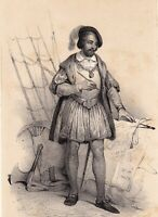 Portrait XIXe Paulin de La Garde Antoine des Escalins des Aimars Marine Royale