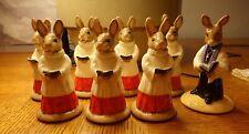 Royal Doulton Bunnykins Figurines Vicar Db254 & Choir Db 223 lot of 8