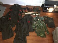 Vintage United States Marine Corps USMC lot Uniforms Jackets Hats Pants Belt 50s