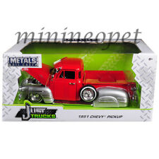 JADA 97229 JUST TRUCK LOWRIDER 1951 CHEVROLET PICK UP TRUCK 1/24 RED / SILVER