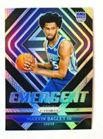 2018-19 Panini Prizm Marvin Bagley III RC, Emergent SILVER Prizm, Kings Rookie!