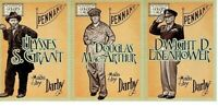 2014 PANINI GOLDEN AGE DARBY 3 CARD PANEL GRANT MACARTHUR EISENHOWER - GENERALS