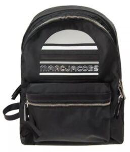 New Marc Jacobs Medium Trek Nylon Backpack black sporty logo bag M0014034
