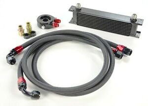 TOYOSPORTS 10 ROW UNIVERSAL ALLOY RACING ENGINE TRANSMISSION OIL COOLER KIT AN10