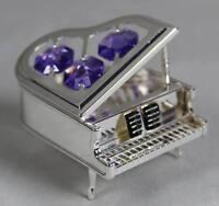 Crystal Temptations - Klavier 6x4,5 cm - Silberfarben mit div. Glassteinen /S351