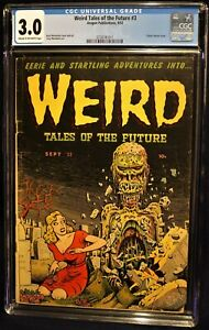 WEIRD TALES OF THE FUTURE 3 - CLASSIC COVER CGC 3.0!!