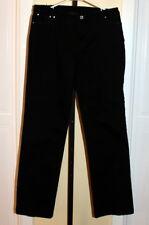 Women's Ladies Black Multiples Jeans Rhinestone Studded Five Pockets Size 10