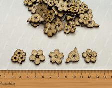Wooden MDF Shapes Flowers Craft Scrapbook Kids Gift Card Making Scrapbooking