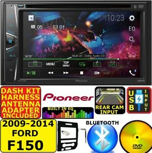 2009-14 FORD F150 PIONEER TOUCHSCREEN CD/DVD BLUETOOTH USB CAR RADIO STEREO PKG