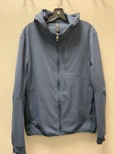 Lululemon Men's Blue Full Zip Long Sleeve Hoodie Jacket Size L